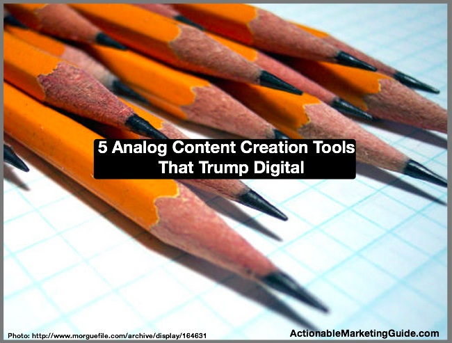 Analog Content Creation Tools