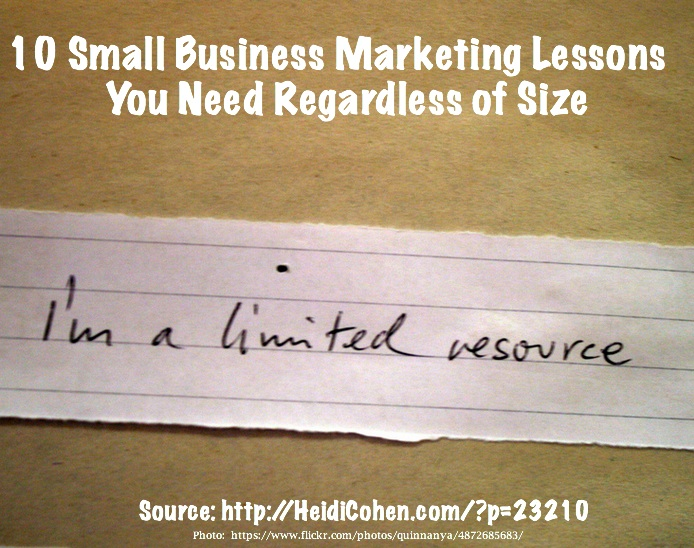Small business marketing lessons