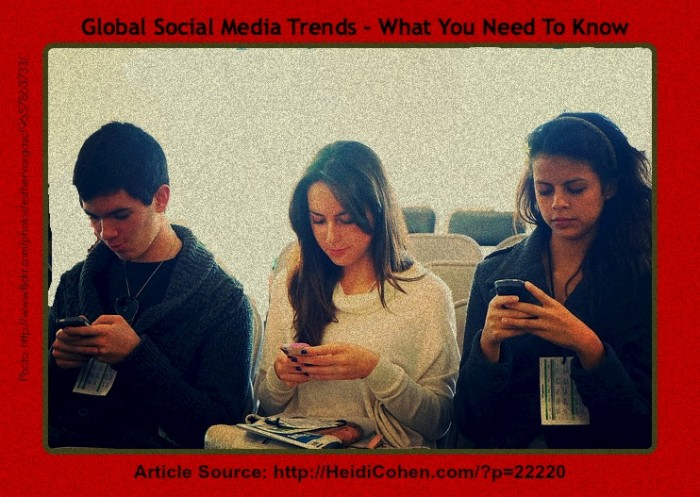 Smartphones and global social media trends