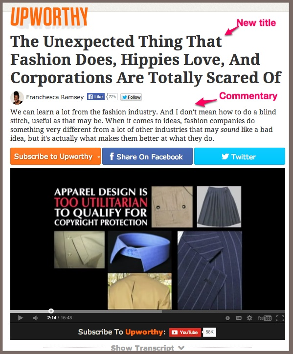 Social Content-Curated Via Upworthy