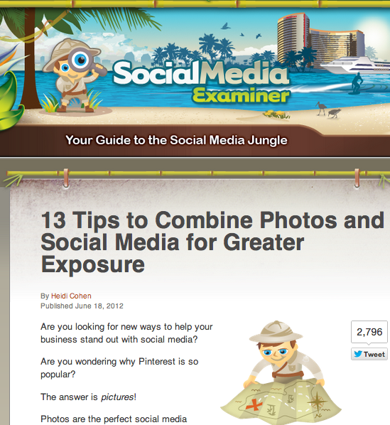 Social Media Examiner - Consistent Branding