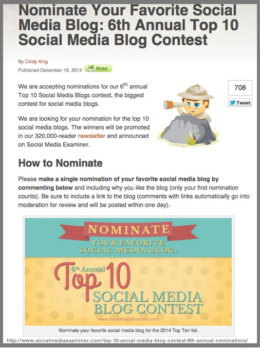 Top 10 List- Blog Content Curation