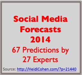 67 Social Media Forecasts For 2014