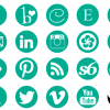 Social Media Icons in Green