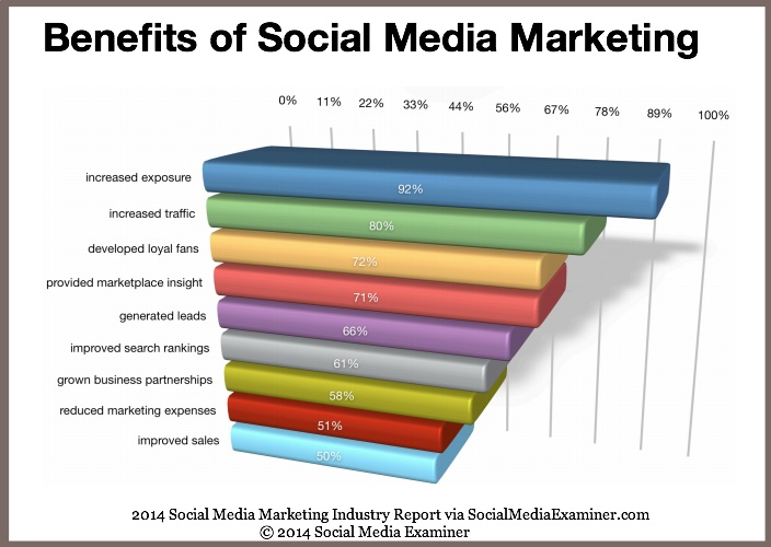 Social Media Marketing Benefits-2014 Social Media Examiner Report-1