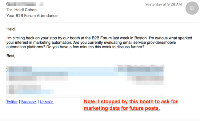 MarketingProfs B2B Forum Tactic