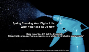 Spring Cleaning Your Digital Life