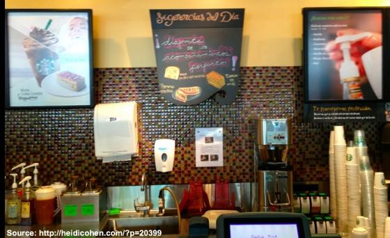 Starbucks Behind the Counter in Lima Peru - Heidi Cohen
