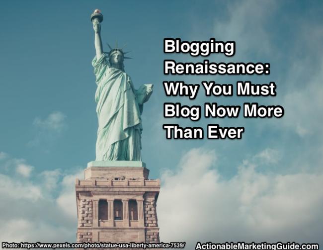 Blogging renaissance