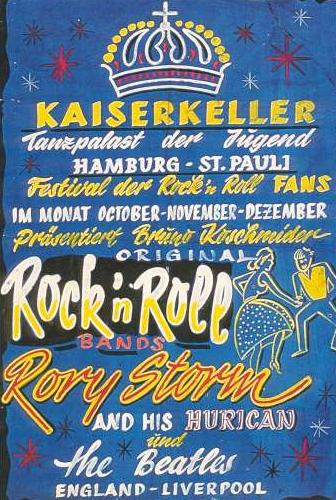 Beatle poster from Hamburg