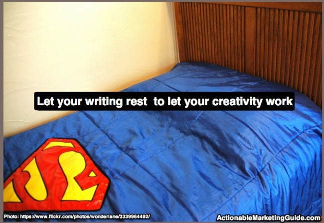 Give your writing super powers by letting it rest so your creativity can work