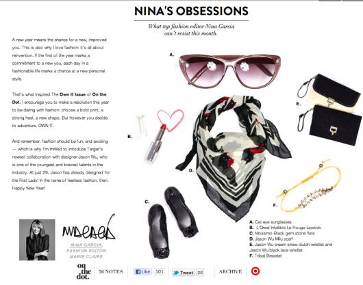 Nina Garcia (Project Runway) sells for Target.