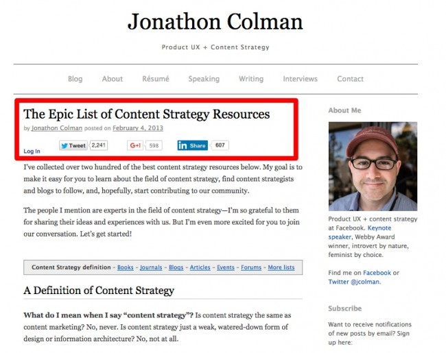 The Epic List of Content Strategy Resources-1-1