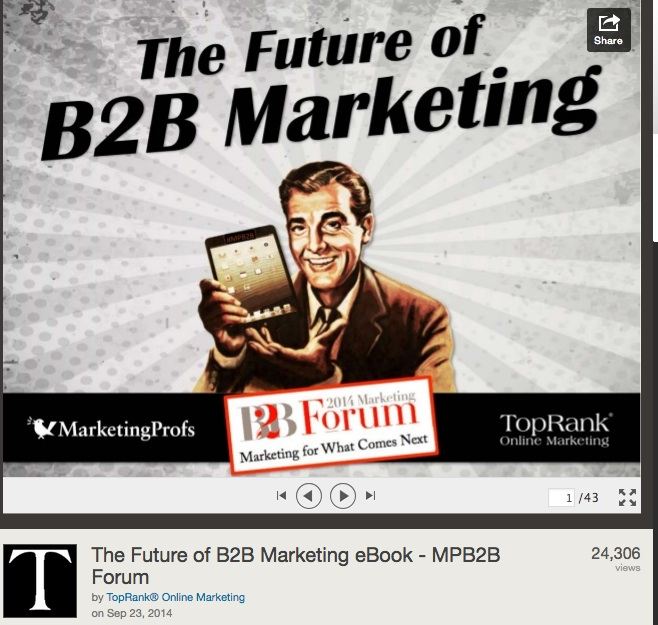 The Future of B2B Marketing eBook - MPB2B Forum
