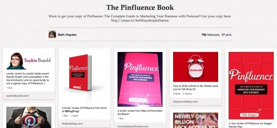 How to promote your book on Pinterest by Beth Hayden