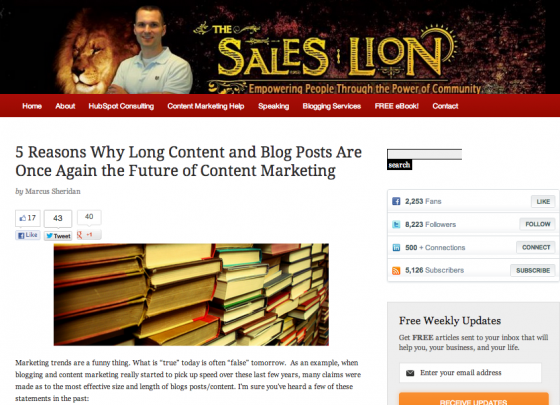 The Sales Lion Marcus Sheridan e1360823233260 14 Social Media Blogs You Should Love