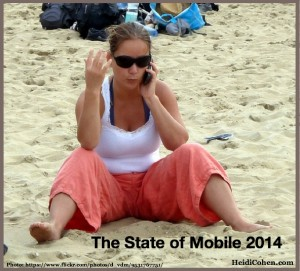 The State of Mobile 2014-Girl on Beach With Smartphone