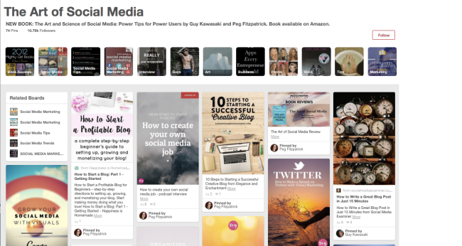 Social Media Content Curation On PInterest