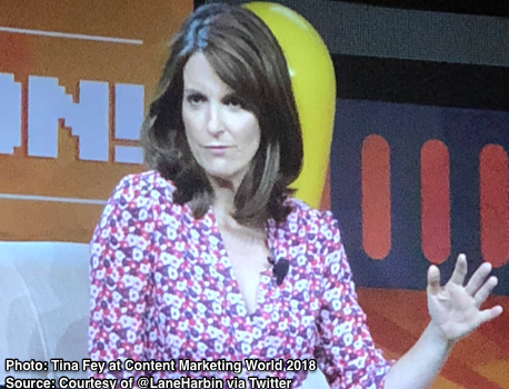 Tina Fey Keynote at Content Marketing World 2018-Photo Lane Harbin
