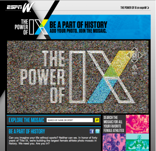ESPNw Gets customers involved with photos