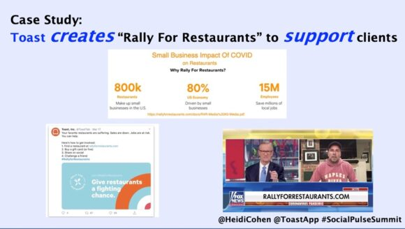 Toast Creates Rally for restaurants to support clients