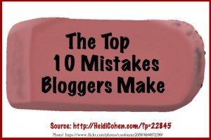 Top 10 Blogging Mistakes