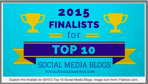 Top 10 Blogger via SocialMediaExaminer