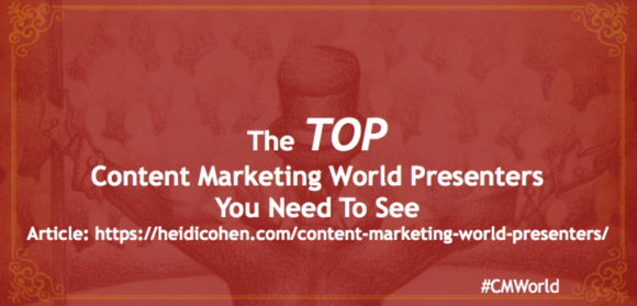 Top Content Marketing World Presenters