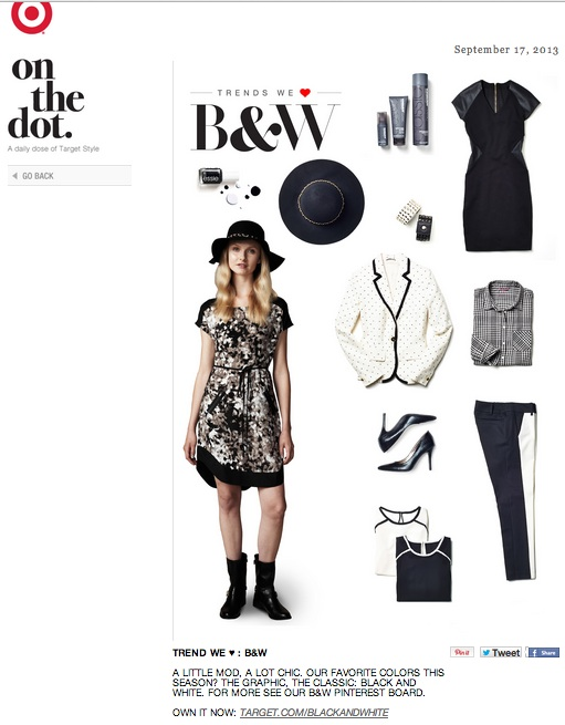 Trend We ♥_ B&W A little mod, a lot chic. Our... - Target - On The Dot-1