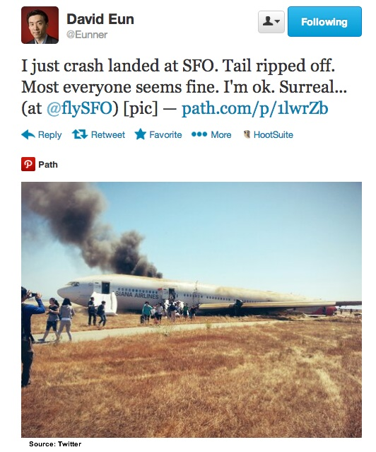 Twitter- Eunner At SFO Crash