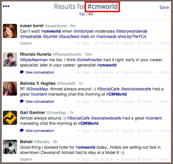 Twitter Search - #cmworld-1