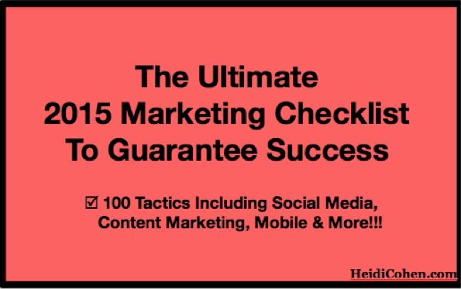Ultimate 2015 Marketing Checklist to Guarantee Success-1
