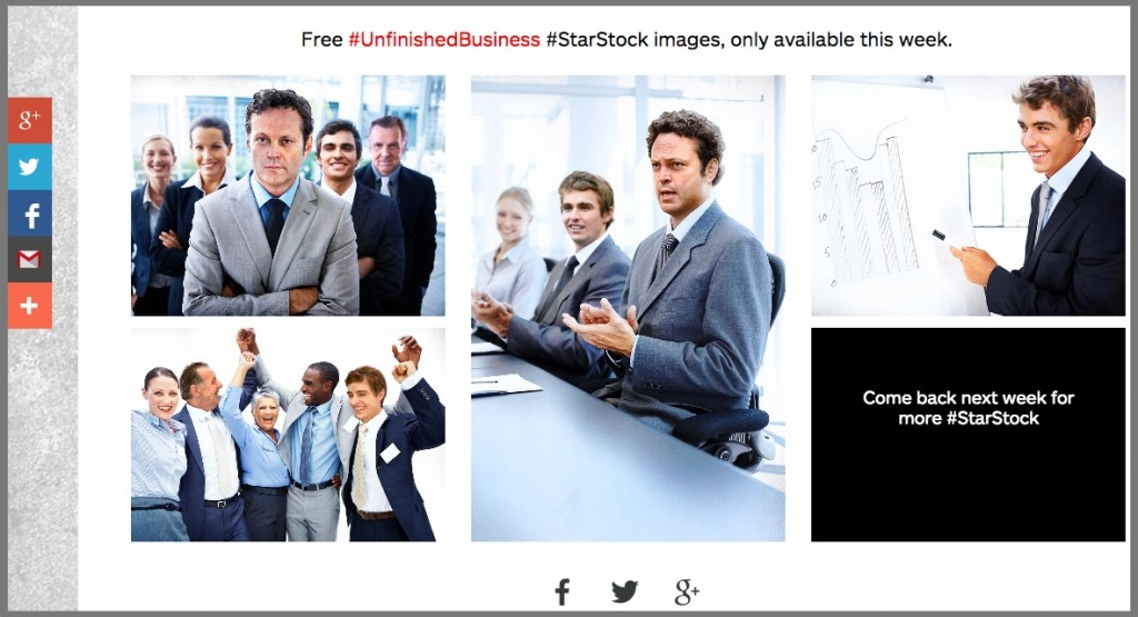 Visual Content Promotion-Unfinished Business Stock Photo Page
