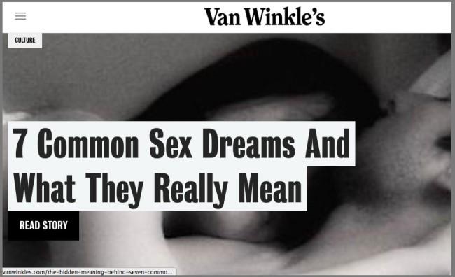 Enticing content from Casper via VanWinkle's