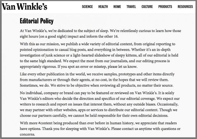 Van Winkle_s Editorial Policy