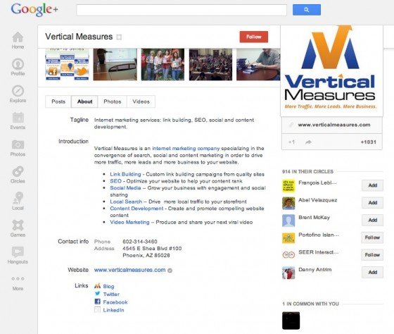 Optimize your Google+ Business Profile