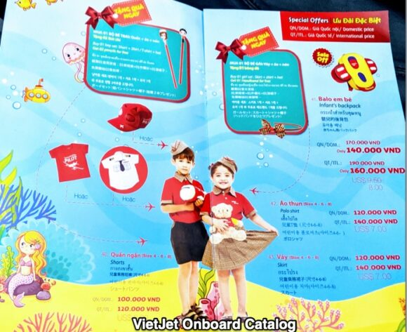 Vietjet's onboard catalog