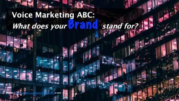 Voice Marketing ABC: Brand