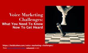 Voice Marketing Challenges