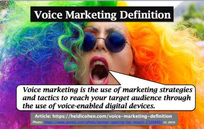 Voice Marketing Definition