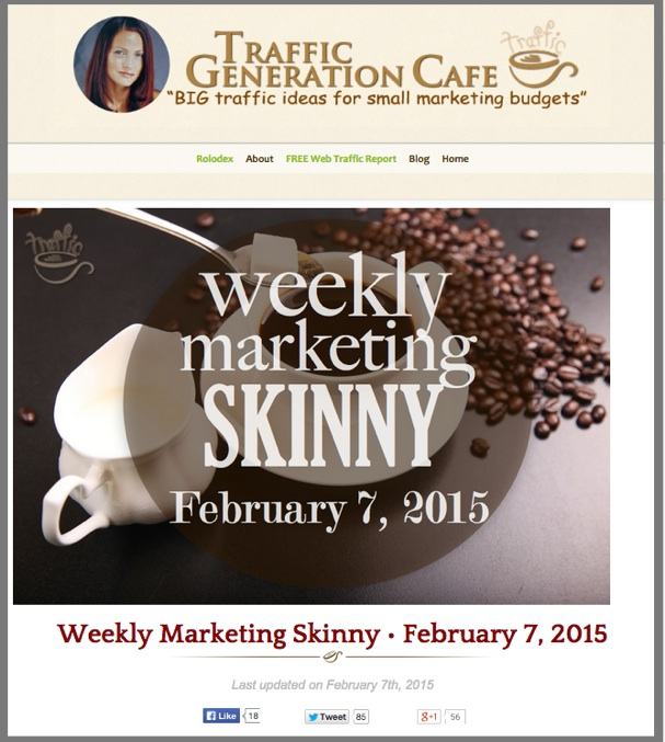 Weekly Marketing News • February 7, 2015
