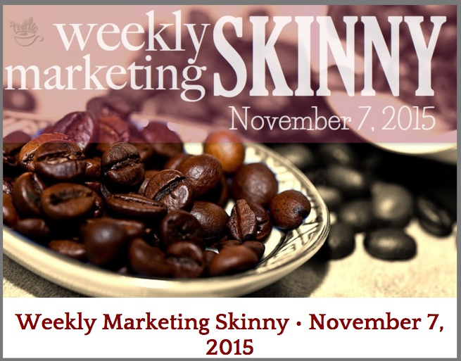 Ana Hoffman's Weekly Marketing Skinny - Example of Content Curation Column