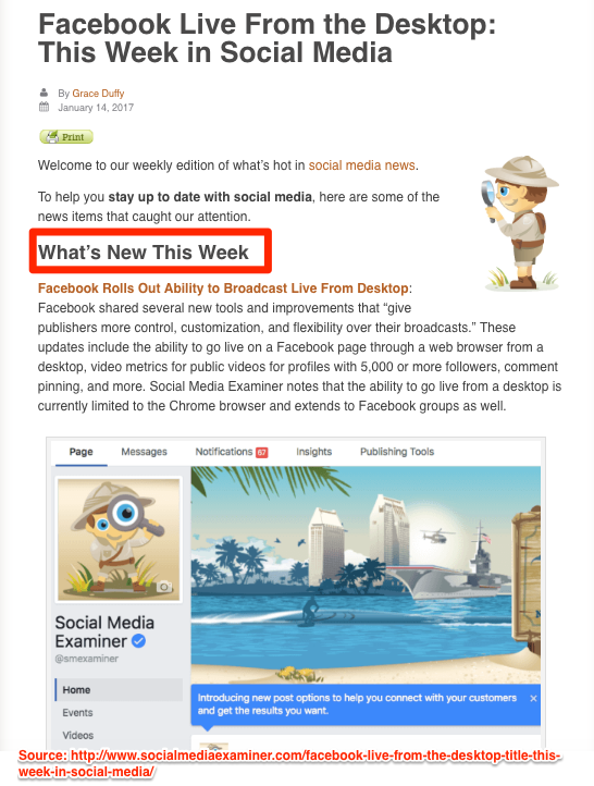 Generate new blog post ideas - Report the news