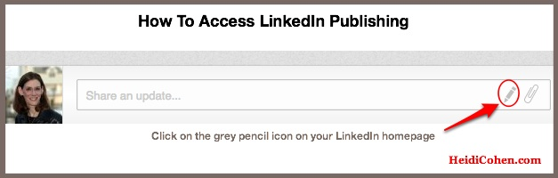 Where to find linkedin publishing