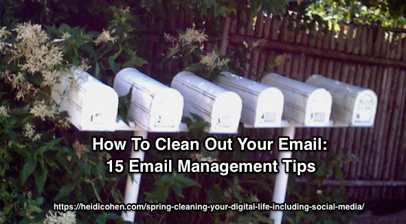 Spring Cleaning Your Digital Life - Email