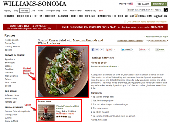 William Sonoma - Bobby Flay Recipe