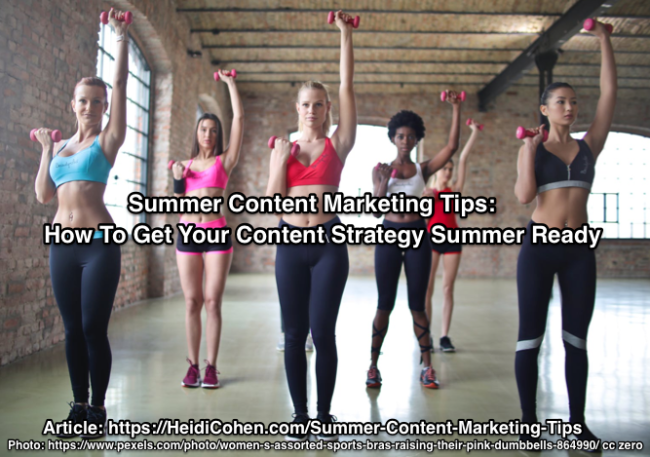 Summer Content Marketing TIps