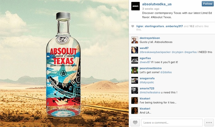 Visual Content Guidelines - Absolut Texas