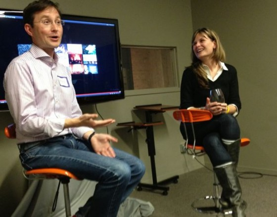 Andy Crestodina and Gini Dietrich at Wine & Web event in Chicago