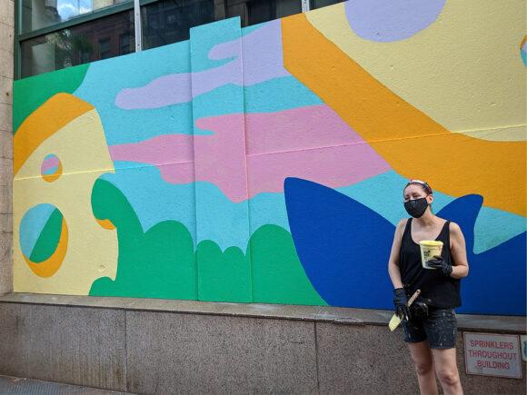 Theresa Rivera flatiron cheese mural